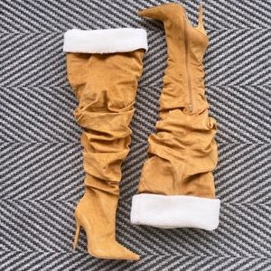 JEFFREY CAMPBELL Igloo Slouchy Thigh High Boots